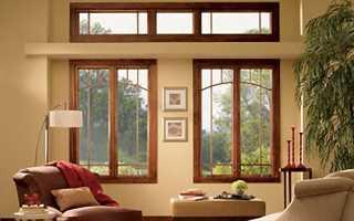 Деревянные окна – часть современного интерьера