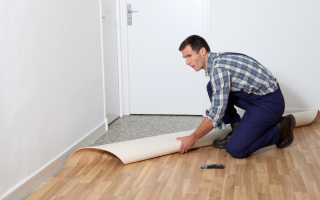 Как класть линолеум на деревянный пол