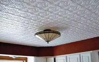 Облицовка потолка плитками