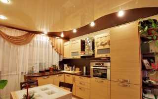 Натяжной потолок на кухне: виды, особенности, материалы