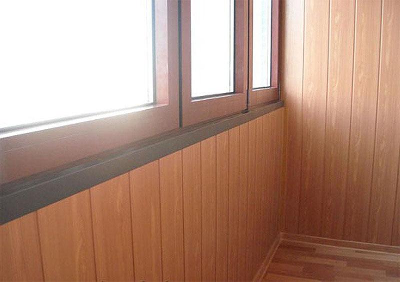 отделка балкона мдф панелями