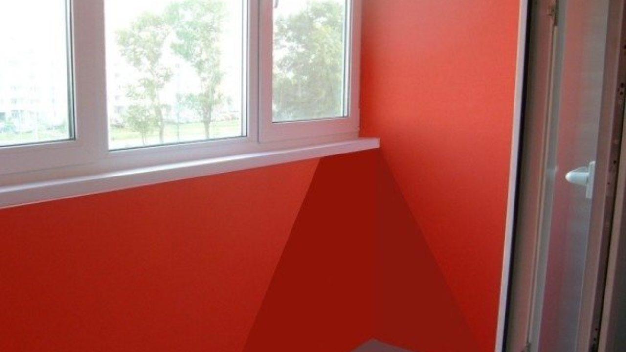 покраска балкона изнутри