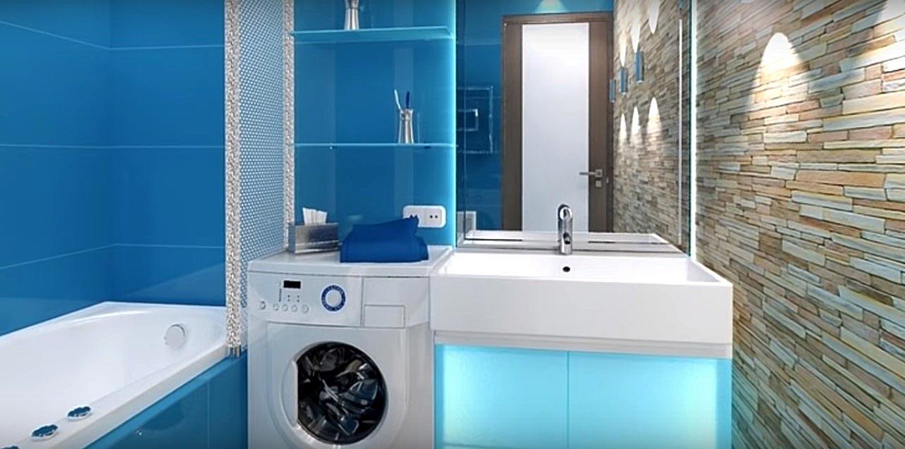 полки в дизайне ванной